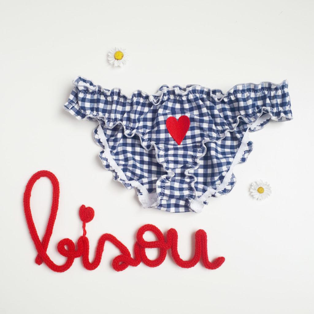 Culotte brodée cœur «madig»