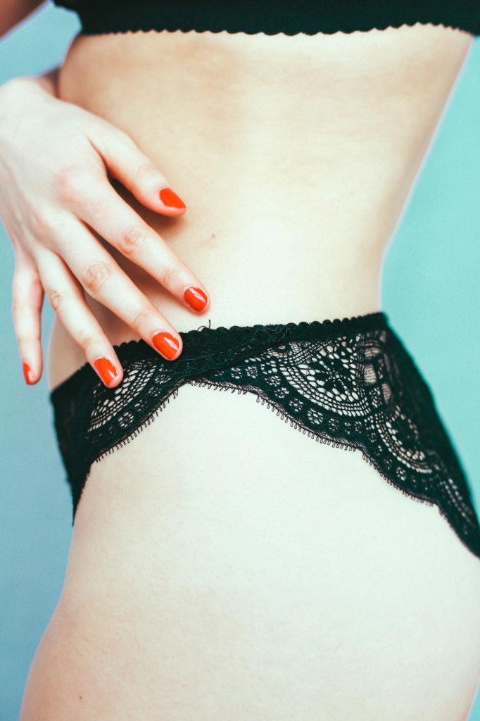 Culotte «petal» noir