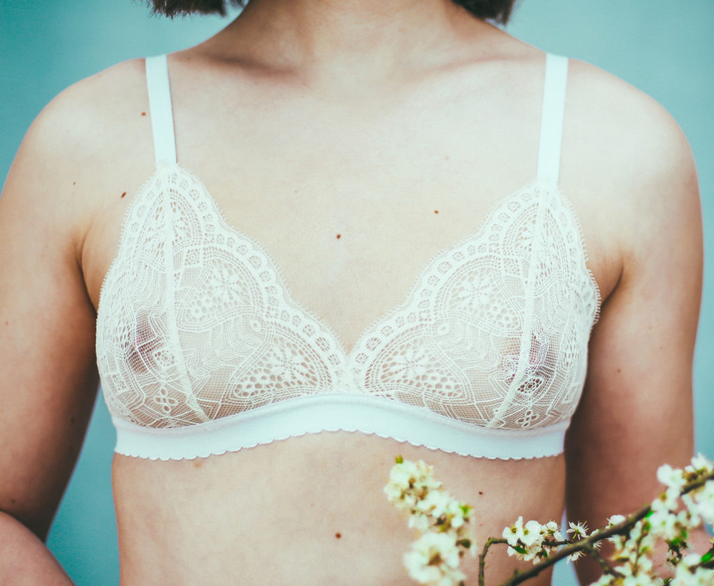 Soutien-gorge triangle «petal» blanc