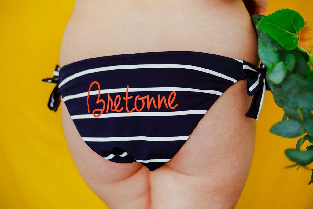 culotte de bain «bretonne» larges rayures