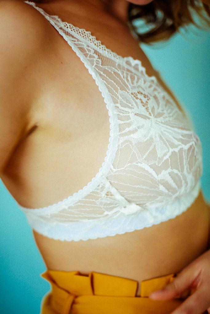 soutien-gorge foulard «levenez» blanc